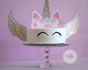Unicorn Cake Topper, Unicorn, Unicorn Birthday, Unicorn Party, Unicorn Cake Topper, Unicorn cake, Cupcake, Unicorn Decoration, Silver