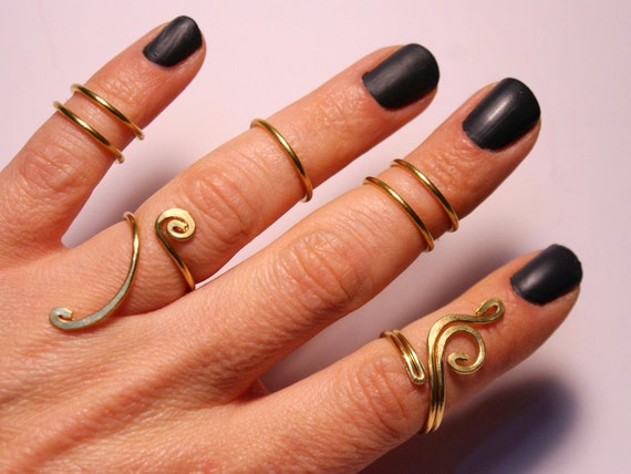knuckle ring midi ring knuckle rings knuckle ring set gold
