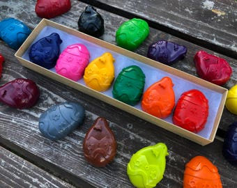 Easter Egg Crayons - Easter Basket Stuffers - Kids Gifts - Easter Gifts For Kids - Shaped Crayons - Easter Party Favors - Easter Crayons