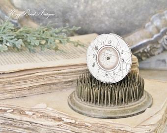 Vintage Clock Face Part Clock Farmhouse Decor Industrial Salvage Fixer Upper Decor