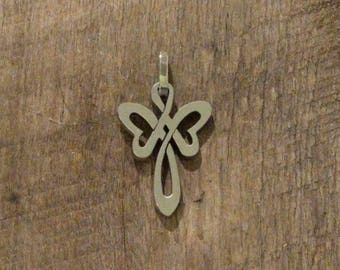 Angel Cross Stainless Steel Pendant