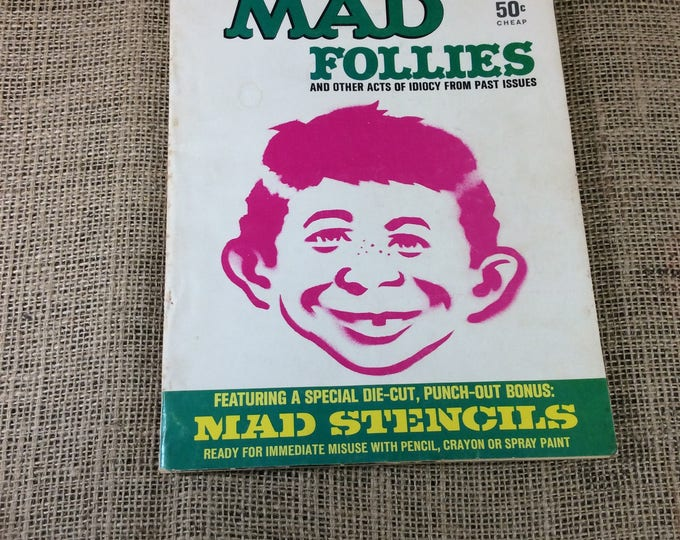 Mad Follies the fifth annual collection from 1967, comic book from 1967, Mad follies, David Berg, Don Martin, Jack Rickard, Mad magazine