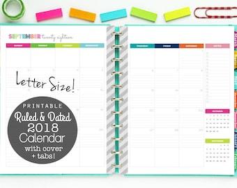 2018 daily calendar printable