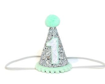 1st Boy Birthday Party Hat || First Birthday Party Hat || Blue Birthday Hat || Boy Birthday Hat