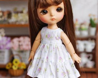 "Lati Yellow/ Puki Fee - ""Dreamy Blossom"" Patchwork Dress - LightFloral Color"