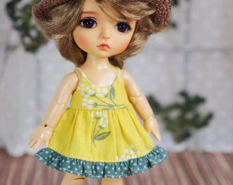 "Lati Yellow/ Pukifee - ""Small Spring"" Dress - Yellow Color"