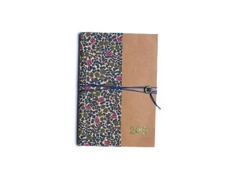 Agenda 2018 Liberty Emilia handmade - one week on two pages - 10 x 15 cm