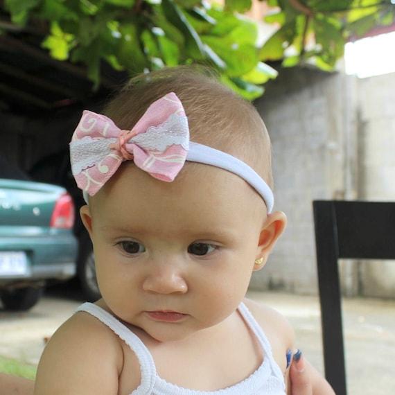 Baby Bow Headband, bow headband baby, newborn baby bow, big baby bow, headband toddler, Pink headband baby, baby bow pink