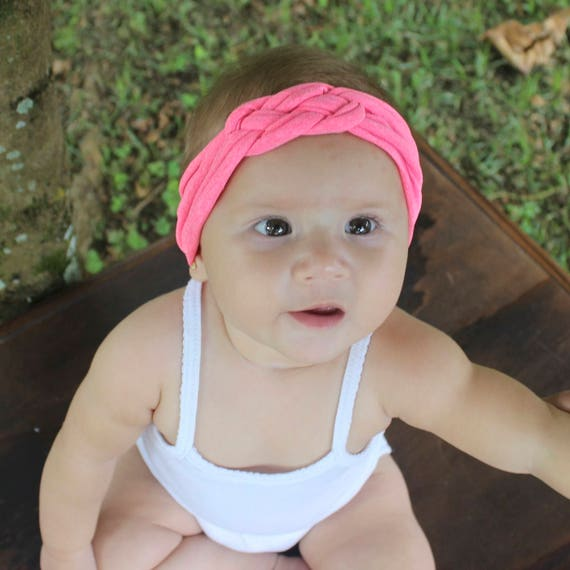 Knot Headband, Pink Headband, Baby HeadWrap, Pink Turban, Celtic Knot Headband, Sailor's Knot, Hair Wrap, Baby Headband, Baby Head Wrap