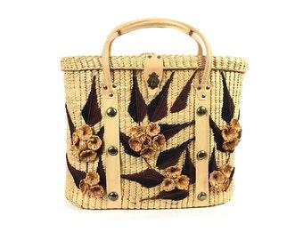 Straw purse, straw bag, straw tote, beach bag, Vintage purse, large straw bag, straw tote bag