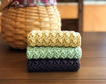 fall home decor crochet dishcloth set kitchen towels housewarming gift cotton dishcloth - Fall Home Decor