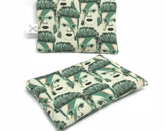 Mini zipper pouch Bowie green