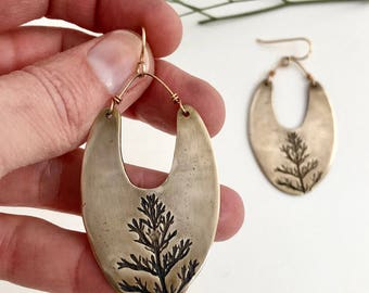Bronze Tree Earrings