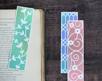 Bookmark Set no.6, Set of Three Collectible Handmade Artist Bookmarks FREE UK SHIPPING Book Lover Bookworm Gift stocking stuffer