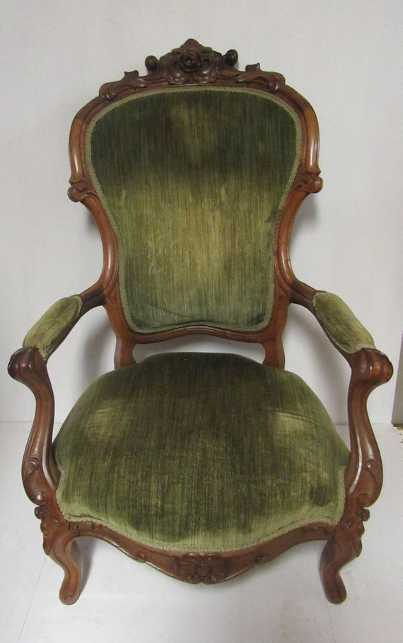 Victorian upholstered armchair