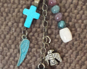 Purse and tote bag charms, dangles. tassels and decorations  with a southwestern ,native American, tribal, boho flavor.