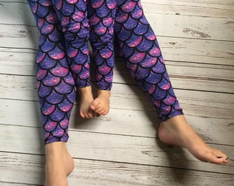 Mommy Daughter Matching, Matching Leggings, Leggings for Mom and Daughter, Mommy Pants, Daughters gift, Matching Mermaids, Mommy and Me