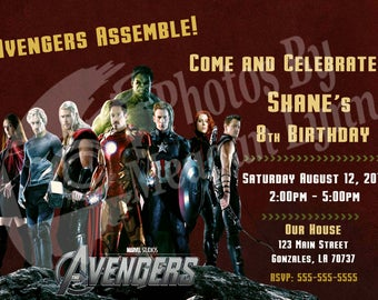Marvel Avengers Birthday Invitation *DIGITAL*