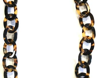 Tortoise Shell Link Acetate Chain