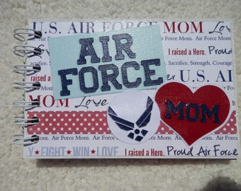 4x6 US Air Force Mom Chipboard Mini Scrapbook