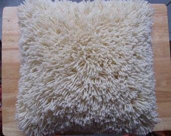 NEW! Decorative Shaggy Wool Pillow