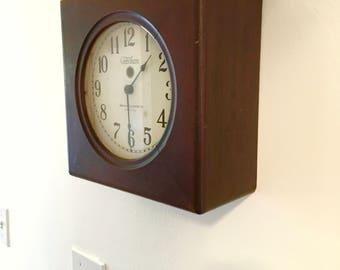 1925 Telechron Industrial Wall Clock 11 Inch Model 101