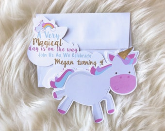 unicorn invitation - unicorn invite - unicorn invites - unicorn birthday - unicorn party - birthday invitation - unicorn - rainbow unicorn