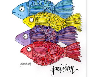 French Fish Limited Edition Print