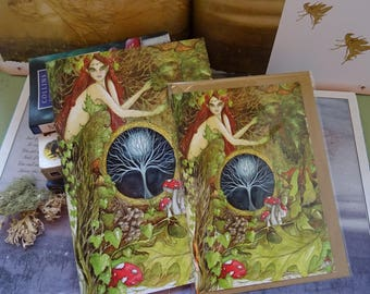 The Green Goddess Journal and Card Set