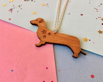 Dachshund Necklace, Sausage Dog Necklace, Dog Necklace, Dachshund Pendant, Cute Dog Gift, Dog Jewellery, Dog Lover Gift, Mother's Day Gift