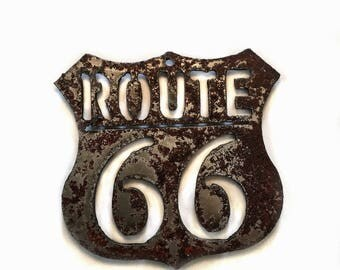 Route 66 Steel Magnet Tsalagi Cherokee Made