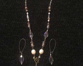 Gold and Bronze Necklace Set