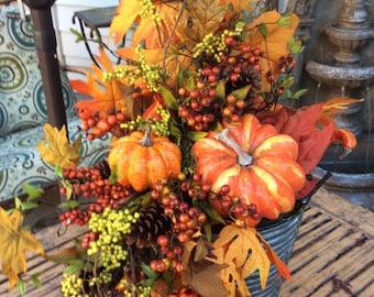 Large Fall Centerpiece,Thanksgiving Centerpiece,fall centerpiece, Fall table arrangement, Table centerpice for Thanksgiving, pumpkin floral