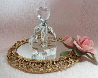 Crystal Perfume Bottle Heart Shaped