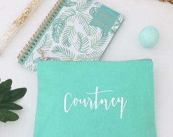 Cosmetic Bag Personalized, Makeup Bag, Monogram Make up Bag, Bridesmaid Wedding Bag, Gift for Her, Best Friends, Toiletry Bag - Monogram