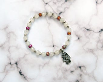Hamsa Mood Bead Color Changing Stretch Charm Bracelet Esoteric