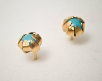 Goldcoated silver earrings