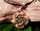 Carnelian Orgone Pendant - Celtic Knot - Sacral Chakra - Lightworker Jewelry - Orgone Chi Prana Energy Balancing - Small