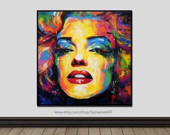 67 x 67 cm, Marilyn Monroe art paintings, Marilyn Monroe wall decor paintings