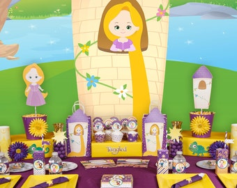 Tangled party; Tangled PDF Birthday Party; Tangled PDF package; Rapunzel Party; Tangled Party Decor; Party decor; Tangled; Tangled Birthday