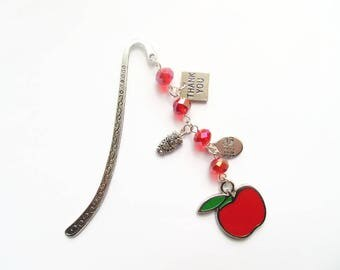 Teacher bookmark, teacher gift, gift for teacher, book lover gift, teacher appreciation, metal bookmark, end of year gift, thank you gift