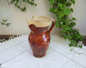terracotta pitcher etsy. Black Bedroom Furniture Sets. Home Design Ideas