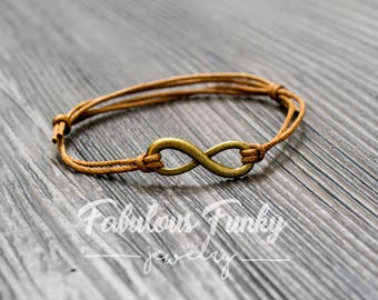 Infinity bracelet - Brown / bronze