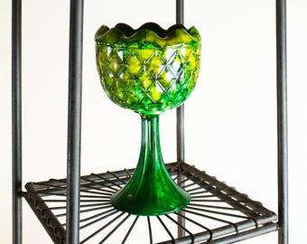 "Retro Vintage Green & Yellow Art | ""Flowering"""