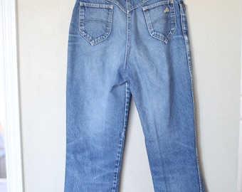 vintage chic 1980's high rise waist  mom  jeans  denim 30