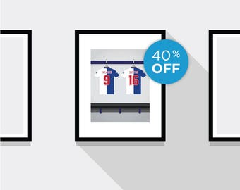 ON SALE!!! Shearer and Sutton Great Partnerships Blackburn Rovers FC Football Print