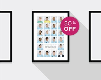 ON SALE!!! Manchester City Premier League Champions 2013/14 Print