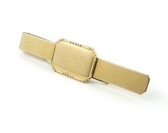 Vintage, Gold Filled, Tie Clip, Signed, Engraveable, STR87