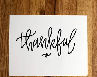 THANKFUL Hand-Lettered Print