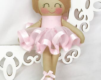 Ballerina Dancing Doll- Pink doll- Cloth Baby Doll